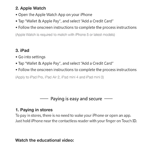 how to add credit card to apple pay